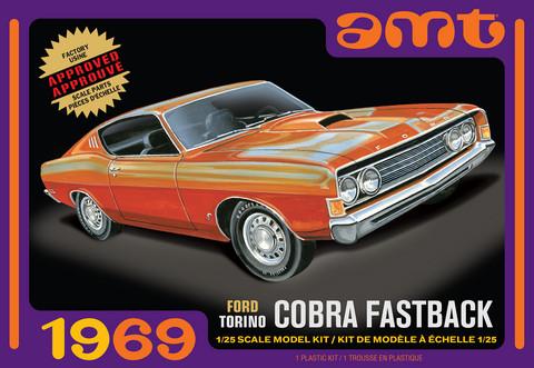 1969 Ford Torino Cobra Fastback, 1:25 (Pidemmällä Toimitusajalla)