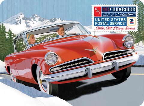 1953 Studebaker Starliner w/ USPS Collectible Tin, 1:25 (Pidemmällä Toimitusajalla)