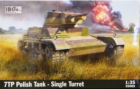 7TP Polish Tank Single Turret, 1:35