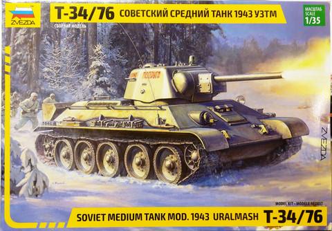 Soviet Medium Tank T-34/76 Mod.1943 Uralmash, 1:35 (pidemmällä toimitusajalla)