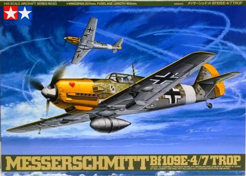 Messerschmitt Bf109E-4/7 Trop, 1:48 (pidemmällä toimitusajalla)