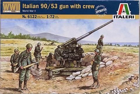 Italian 90/53 Gun with Crew, 1:72