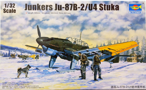 Junkers Ju-87B-2U-4 Stuka, 1:32 (pidemmällä toimitusajalla)