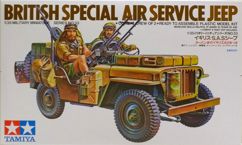 British Special Air Service Jeep, 1:35 (pidemmällä toimitusajalla)