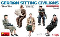 German Sitting Civilians '30s- '40s, 1:35