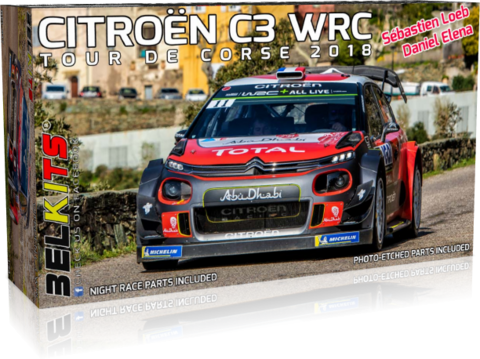 ENNAKKOTILAUS Citroën C3 WRC Tour De Corse 2018, 1:24