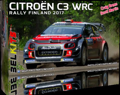 ENNAKKOTILAUS Citroën C3 WRC Rally Finland 2017, 1:24