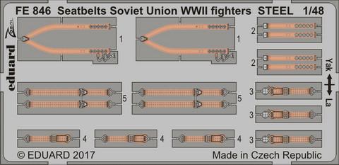 Seatbelts Soviet Union WWII Fighters Steel, 1:48