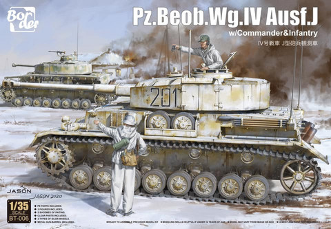 ENNAKKOTILAUS Pz.Beob.Wg.IV Ausf.J with Commander & Infantryman, 1:35