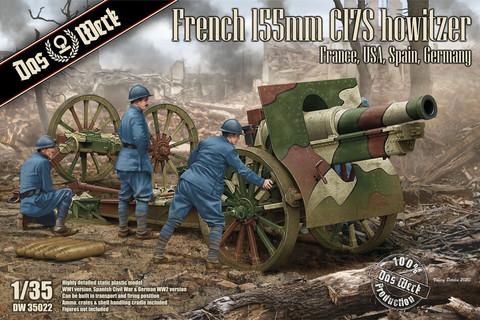 French Schneider 155mm C17S howitzer, 1:35