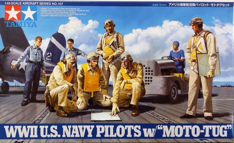 WWII U.S. Navy Pilots with Moto-Tug, 1:48