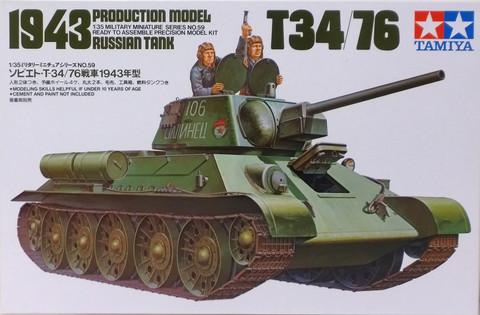 Russian Tank T34/76 1943 Production Model, 1:35 (pidemmällä toimitusajalla)