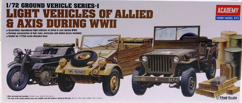 Light Vehicles of Allied & Axis WWII, 1:72