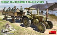 German Tractor D8506 with Trailer & Crew, 1:35 (Pidemmällä Toimitusajalla)