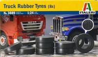 Truck Rubber Tyres (8x) 1:24