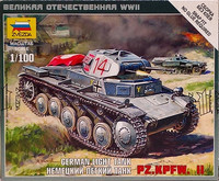 German Light Tank Pz.Kpfw.II 1:100