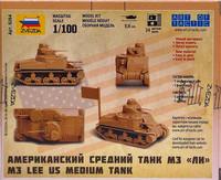 U.S. Medium Tank M3 Lee 1:100