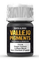 Carbon Black (Smoke Black), Vallejo Pigments 35ml