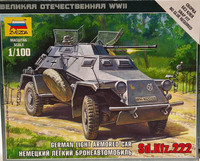 German Light Armored Car Sd.Kfz.222, 1:100