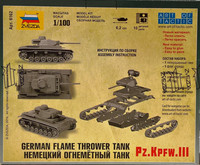German Flame Thrower Tank Pz.Kpfw.III 1:100