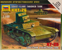 Soviet Flame Thrower Tank KHT-26 1:100