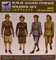 WWII Allied Female Soldier Set 1:35