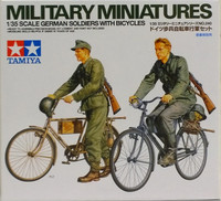 German Soldiers with Bicycles 1:35