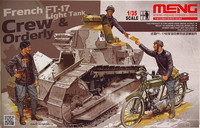French FT-17 Light Tank Crew & Orderly 1:35