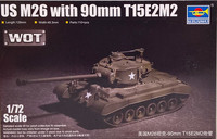 U.S. M26 with 90mm T15E2M2, 1:72