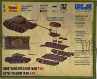 Soviet Medium Tank T-44, 1:100
