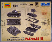 German Light Tank Pz.Kpfw.38(t) 1:100