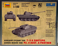 German Medium Tank Pz.V Ausf. A Panther 1:100