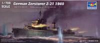 German Zerstorer Z-21 1940 1:700 (pidemmällä toimitusajalla)