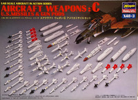 Aircraft Weapons C (U.S. Missiles & Gun Pods) 1:48