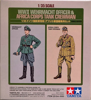 WWII Wehrmacht Officer & Africa Corps Tank Crewman, 1:35