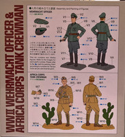 WWII Wehrmacht Officer & Africa Corps Tank Crewman 1:35