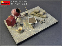 Concrete Mixer Set, betonimylly 1:35