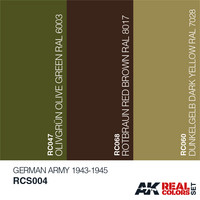 Real Colors, German Army 1943-1945 (3 maalin paketti)