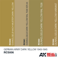 Real Colors, German Army Dark Yellow 1943-1945 (4 maalin paketti)