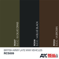 Real Colors, British Army Late WWII Vehicles (3 maalin setti)