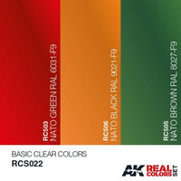 Real Colors, Basic Clear Colors (3 maalin setti)