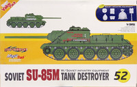 Soviet SU-85M Tank Destroyer with Soviet Infantry Equipment, 1:35