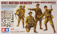 WWI British Infantry with Small Arms & Equipment, 1:35