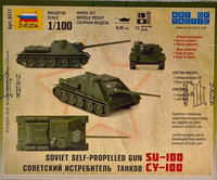 Soviet Self-Propelled Gun SU-100, 1:100