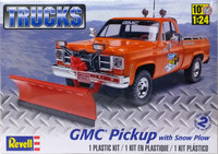 GMC Pickup with Snow Plow, 1:24