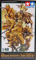 WWII Russian Infantry & Tank Crew Set 1:48