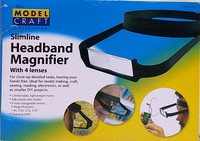 Headband Magnifier Slimline with 4 lenses