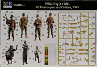 Hitching a Ride. US Paratroopers and Civilians 1945, 1:35