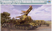 Flakpanther with 8,8cm Flakrakete Rheintochter I, 1:35