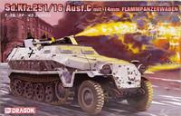 Sd.Kfz.25116 Ausf.C mit 14mm Flammpanzerwagen, 1:35